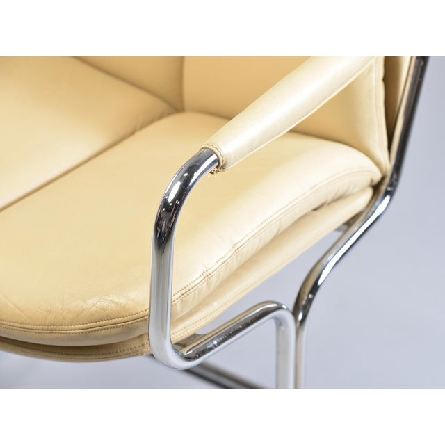 White Tim Bates for Eleganza Collection at Pieff Chrome and Leather Armchairs - a Pair For Sale - Image 8 of 13