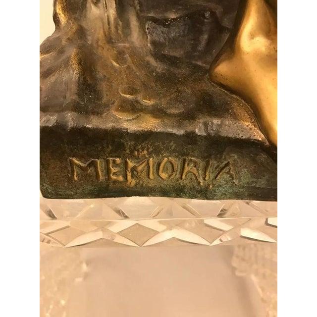 """Emile Louis Picault Signed Bronze Sculpture """"Memoria"""" - Image 9 of 10"""
