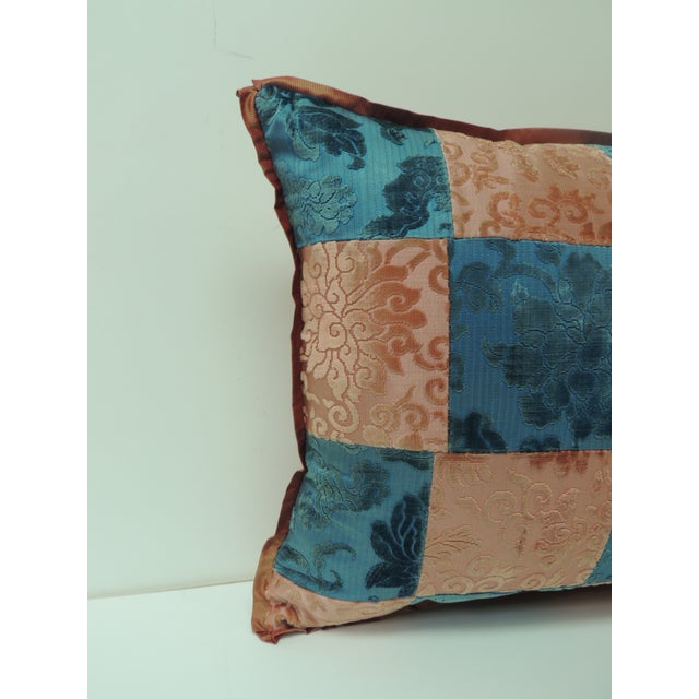 Pink and blue romance through the Gilded Age's Asian textiles patchwork Lumbar pillow decorative pillow handcrafted from...