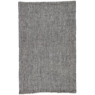 Jaipur Living Topper Handmade Solid Black & Gray Area Rug - 5' X 8' For Sale