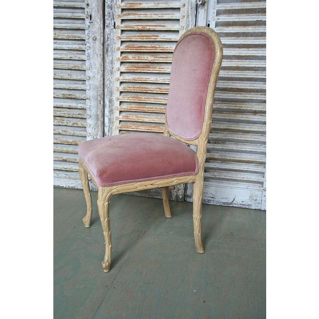 1960s Hollywood Regency Hand-Carved Dining Chairs - Set of 6 For Sale - Image 10 of 11