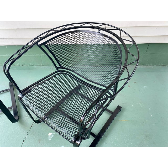 Salterini 1960s Mid Century Modern Wrought Iron Rocker Chairs - a Pair For Sale - Image 4 of 7