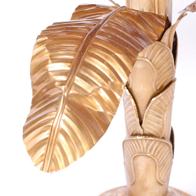 Mid 20th Century Midcentury Brass Palm Tree Sculpture For Sale - Image 5 of 8