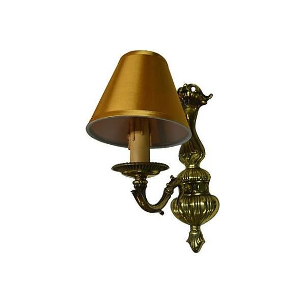 Vintage French Boudoir Brass Sconce - Image 4 of 5