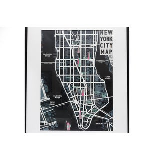 Framed New York City Map Preview