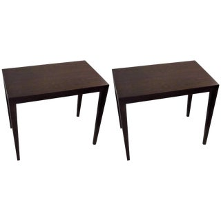 Mid-Century Danish Rosewood Side Tables - A Pair