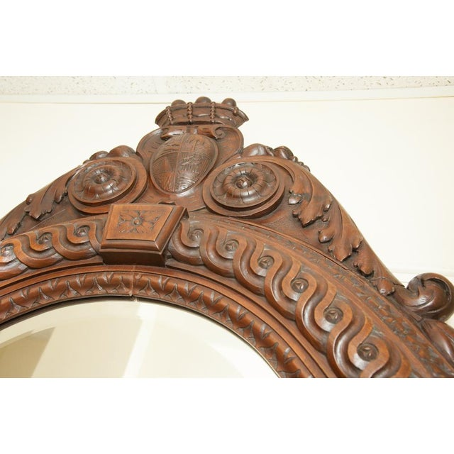 Late 19th Century Italian Antique Wall Mirror For Sale - Image 5 of 6