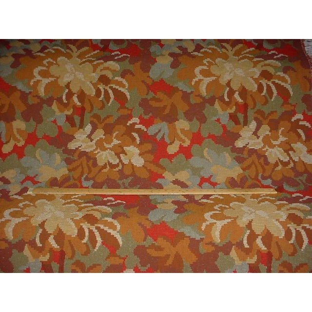 French Kravet Couture Red Tree Branch Floral Tapestry Upholstery Fabric - 12-7/8 Yards For Sale - Image 3 of 5