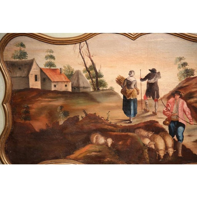 Giltwood 19th Century French Hand Painted Wall Panels With Gilt Accents - a Pair For Sale - Image 7 of 8