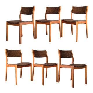 Danish Modern D Scan Teak Chairs, Set of 6 For Sale