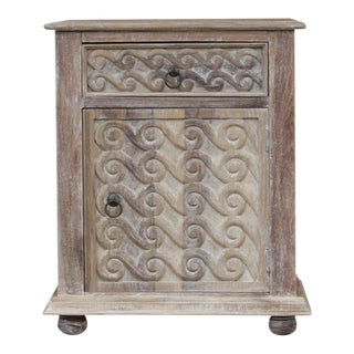 Scroll Carved Nightstand