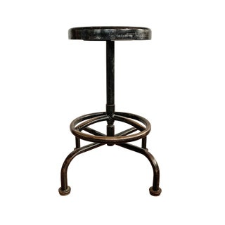 Vintage Mid Century American Industrial Swivel Stool For Sale
