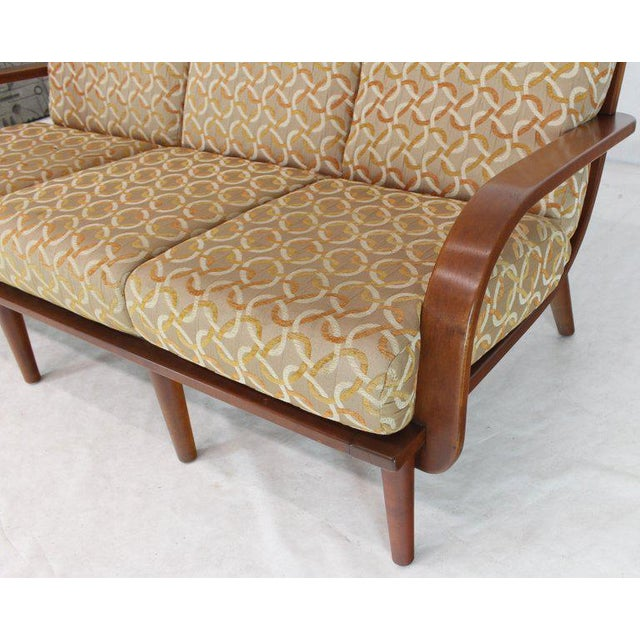 Brown Conant Ball Russel Right Solid Bent Maple Sofa For Sale - Image 8 of 13
