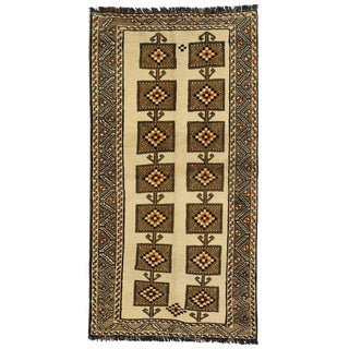 20th Century Persian Shiraz Accent Rug/Tribal Hallway Runner - 3′9″ × 7′1″ For Sale