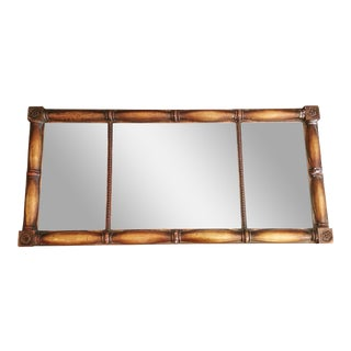 Extra Large Arts & Crafts Guild Carved Mantle Buffet Bar Mirror - 5 Feet Wide For Sale