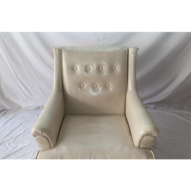 Traditional Vintage Tufted Club Chair with Casters For Sale - Image 3 of 8