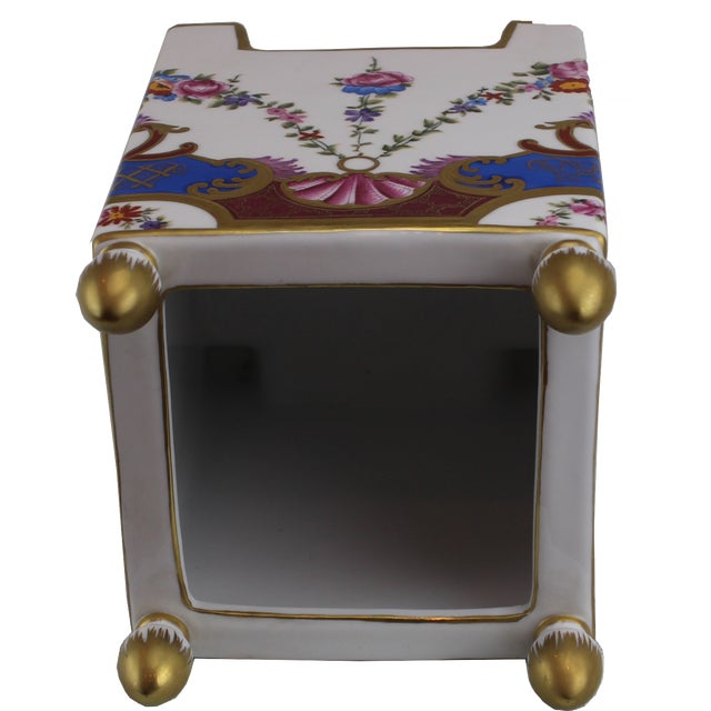 Square Hand-Painted/Gold Italian Vase Gold Painted