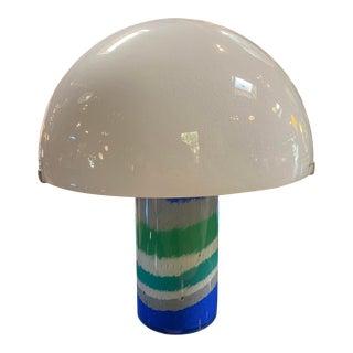 Italian Mid-Century Murano Mushroom Table Lamp by Av Mazzega 1970 For Sale