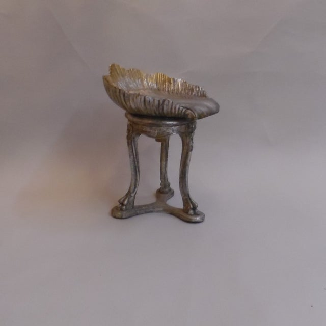 This Circa 1890 Italian Silver and Gold Gilt Cherry Carved Grotto Chair is reminiscent of the charm of English Gardens...