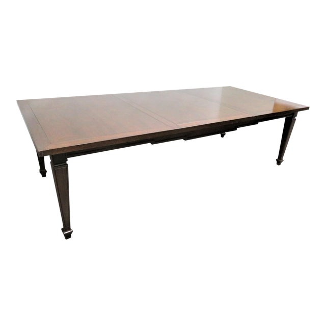 Italian Style Walnut Dining Table For Sale