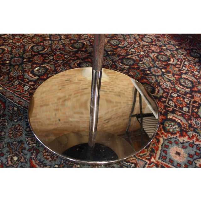 Zographos White Marble & Chromed Steel Side Table - Image 5 of 5