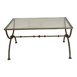 Vintage Wrought Iron Coffee Table For Sale