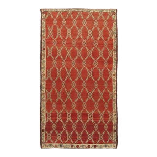 Vintage Turkish Red Anatolian Rug, 5'8 X 10'7 For Sale