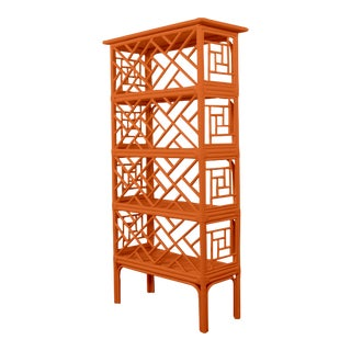 Chippendale Etagere - Orange For Sale
