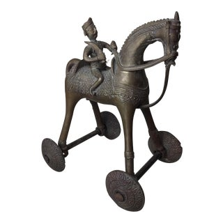 Vintage Bronze Statue of King on Horse For Sale