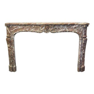 Danny Alessandro French Louis XV Antique Marble Mantel For Sale