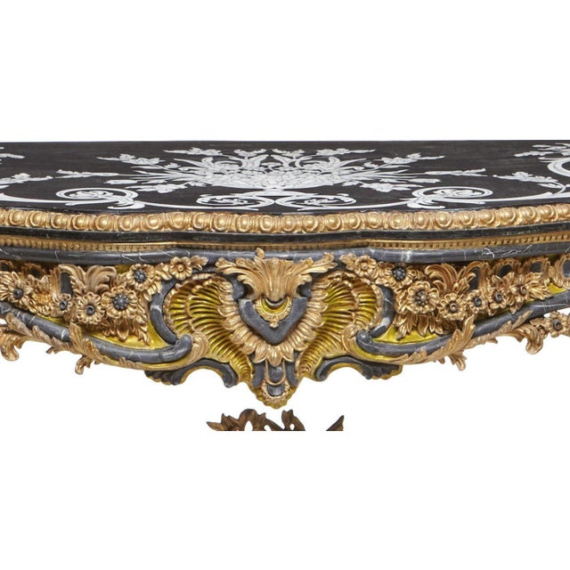 Italian Rococo Style Gilt Console Table For Sale - Image 12 of 13