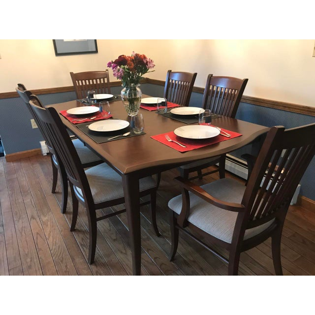 Richardson Brothers Solid Wood Dining Set - Image 3 of 11
