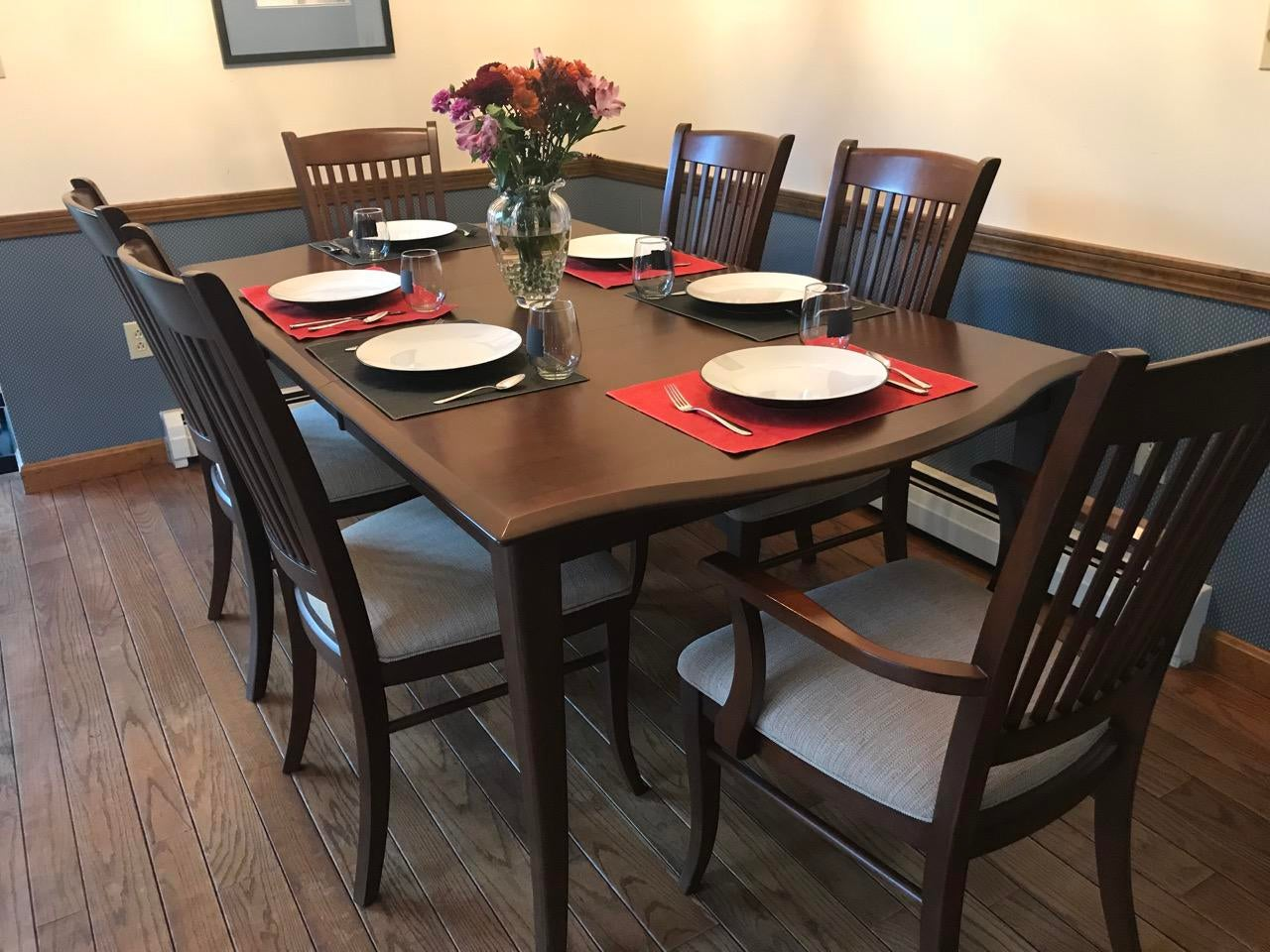 Contemporary Richardson Brothers Solid Wood Dining Set For Sale   Image 3  Of 11