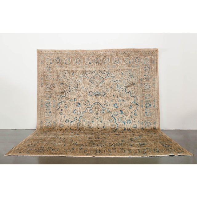name: Satyar origin: Iran (Persian) style: rug, carpet material: hand knotted wool colors: cream, blues, navy, tan, camel...