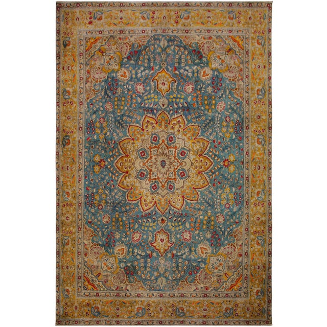 Hand Painted Solis Wool Rug - 9′8″ × 12′4″ For Sale