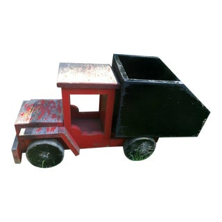 1930s Wooden Toy Dump Truck For Sale