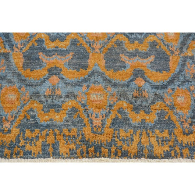 "Kafkaz Peshawar Rolando Light Blue/Gray Wool Rug - 7'6"" X 9'5"" For Sale In New York - Image 6 of 8"
