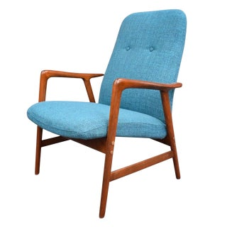Vintage Mid-Century Lounge Chair by Dux of Sweden For Sale