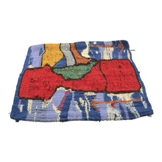 Red and Blue Abstract Tapestry, 1970s For Sale