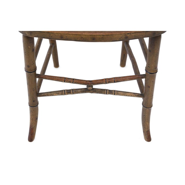 Paint Pair of Regency Faux Bamboo Chairs For Sale - Image 7 of 9