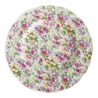 1950's Vintage Royal Winton Estelle Pattern Chintz Salad Plate For Sale