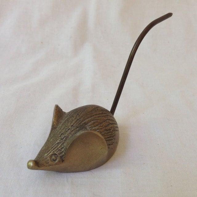 Vintage Brass Mouse Note Holder - Image 2 of 5
