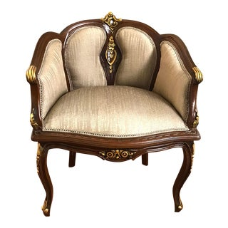Louis XV Small Sofa, French Chair, Handmade, Antique Vintage Furniture Reproduction , Victorian For Sale