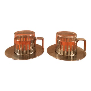 Alessi Demitasse Cups and Saucers - a Pair