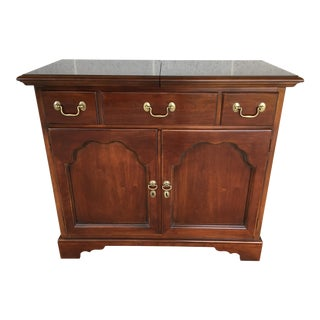 Drexel Carleton Solid Cherry Chippendale Style Server For Sale
