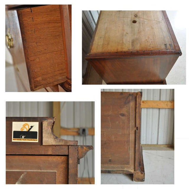 Empire 19th Century French Empire Flame Mahogany Drop Front Secretaire For Sale - Image 3 of 10