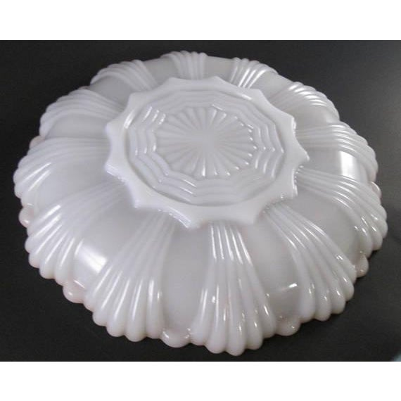 Vintage Milk Glass Relish Plate For Sale - Image 4 of 5
