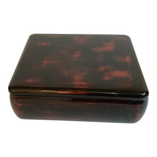 20th Century Japanese Faux Tortoise Shell Lacquered Nesting Boxes - 3 Piece Set For Sale