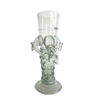 Venetian Glass Beaker Featuring Wild Boar Motif For Sale