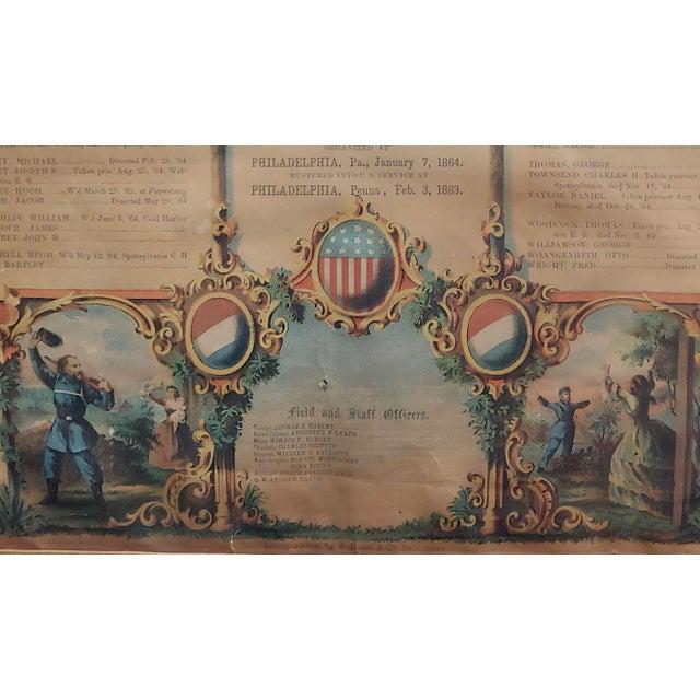 Civil War 1864 Military Register Pennsylvania Company E Manifesto For Sale - Image 4 of 9